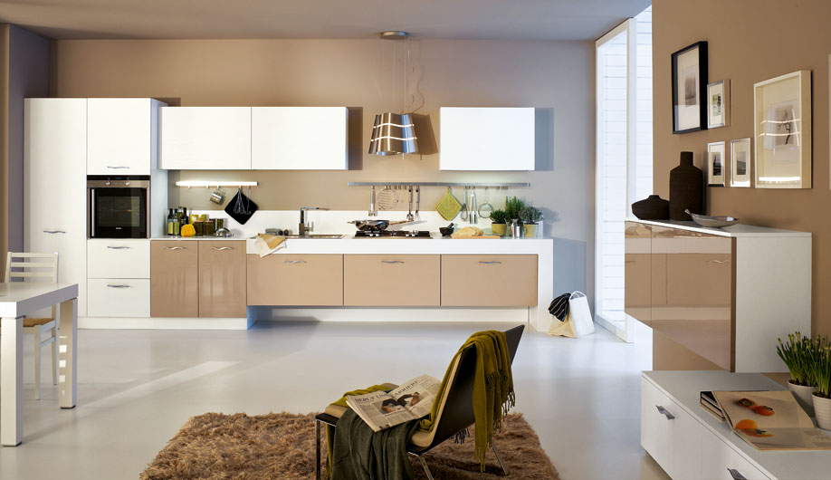 Cucina Moderna Bianca E Rovere. Cool Excellent Cucine Con Cucina Ged ...