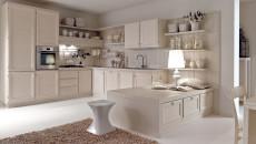Cucina Cortigiana in finta muratura